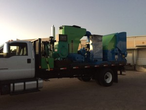mobile polystyrene recycling unit