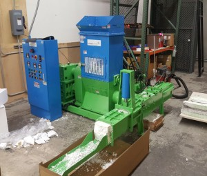 polystyrene recycle machine